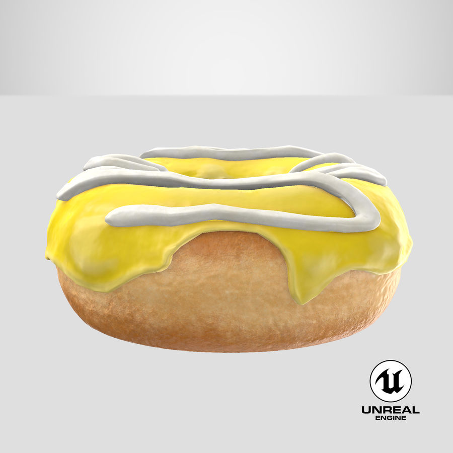 Donut 05 - Yellow royalty-free 3d model - Preview no. 26