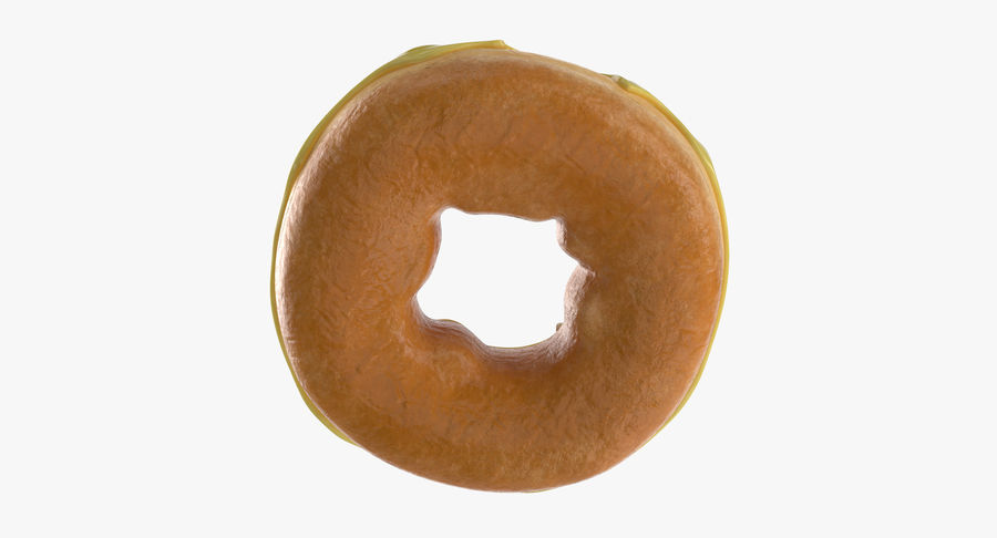 Donut 05 - Giallo royalty-free 3d model - Preview no. 9