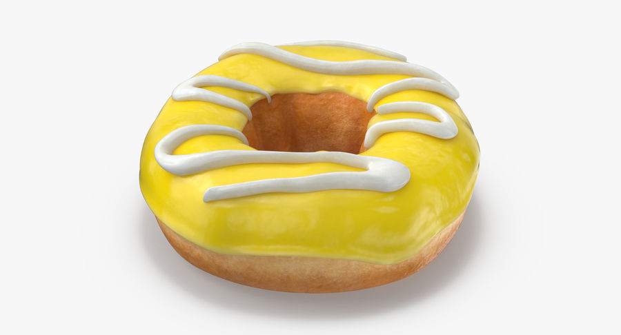 Donut 05 - Giallo royalty-free 3d model - Preview no. 6
