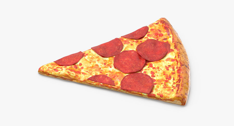 PIzza Slice Pepperoni royalty-free 3d model - Preview no. 4