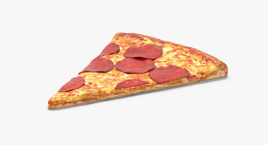 PIzza Slice Pepperoni royalty-free 3d model - Preview no. 5