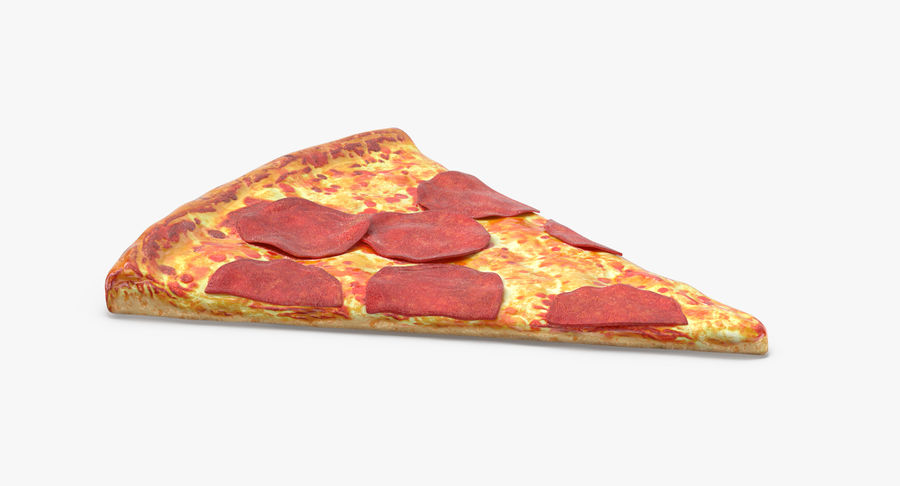 PIzza Slice Pepperoni royalty-free 3d model - Preview no. 6