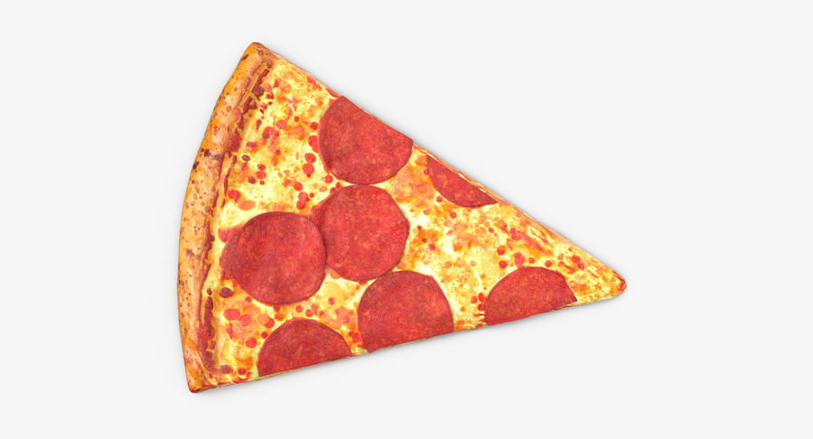 PIzza Slice Pepperoni royalty-free 3d model - Preview no. 8