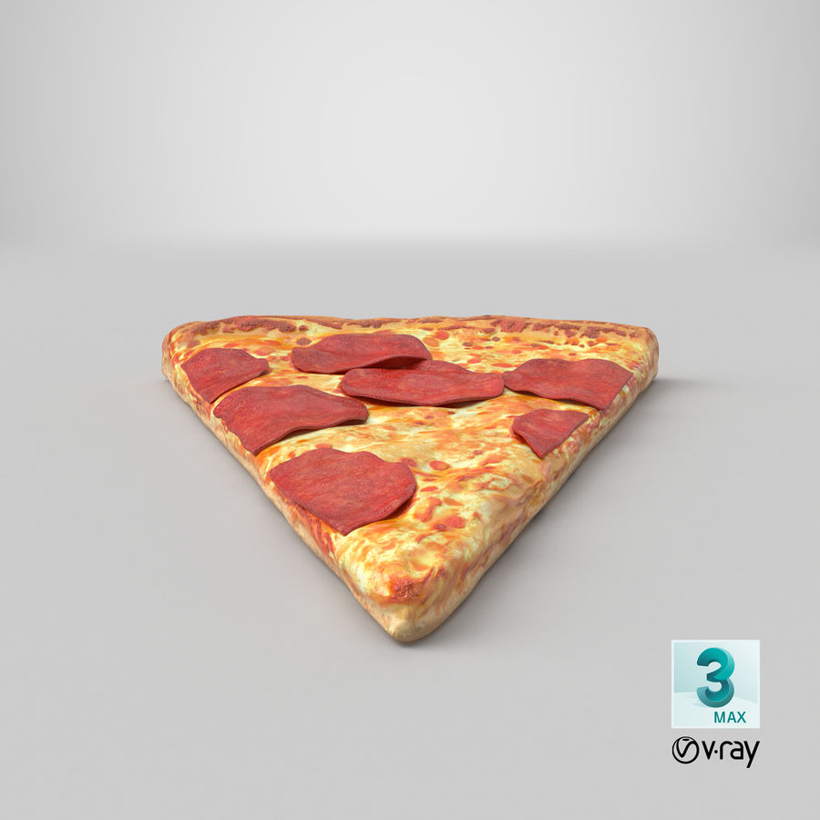 PIzza Slice Pepperoni royalty-free 3d model - Preview no. 26