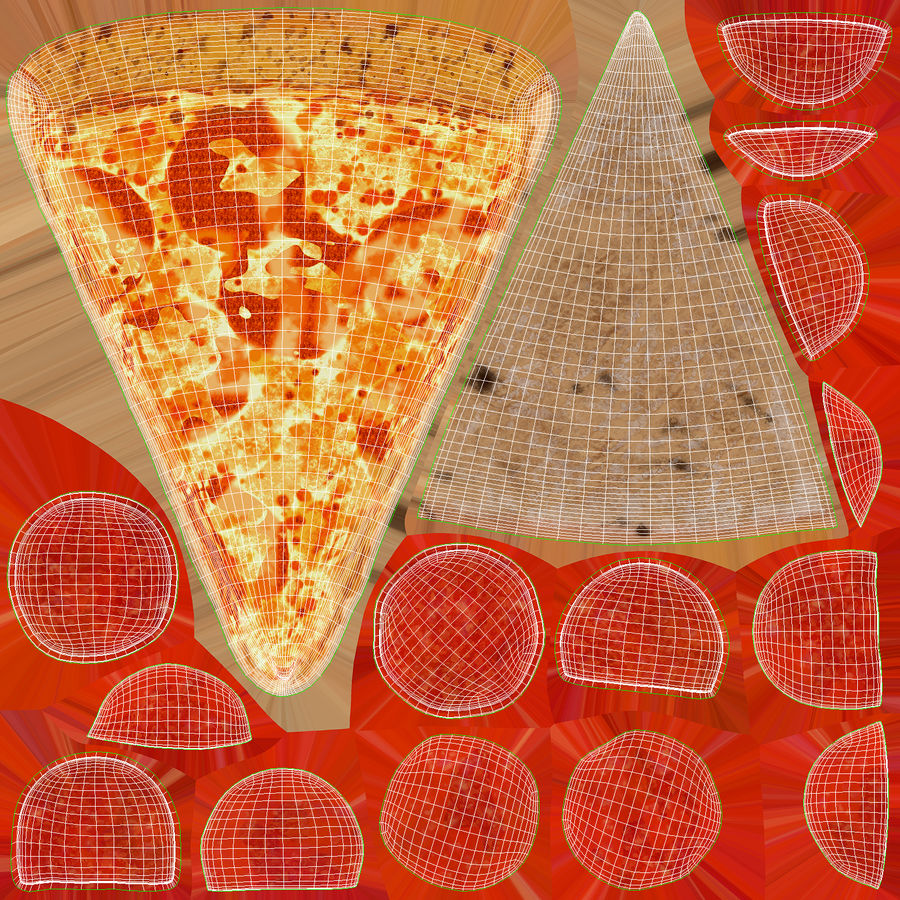 PIzza Slice Pepperoni royalty-free 3d model - Preview no. 20