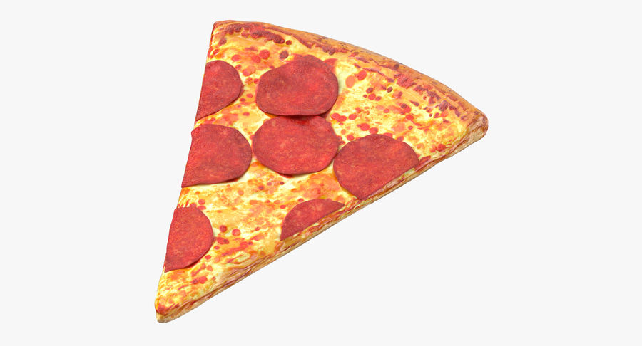 PIzza Slice Pepperoni royalty-free 3d model - Preview no. 2