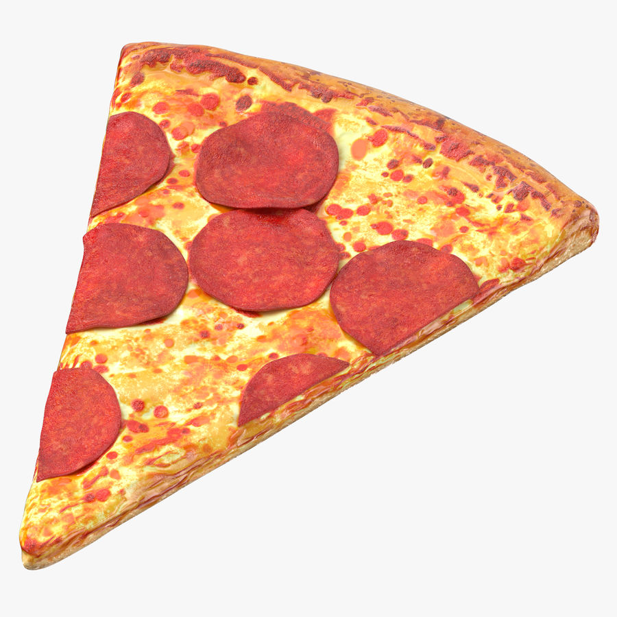 PIzza Slice Pepperoni royalty-free 3d model - Preview no. 1