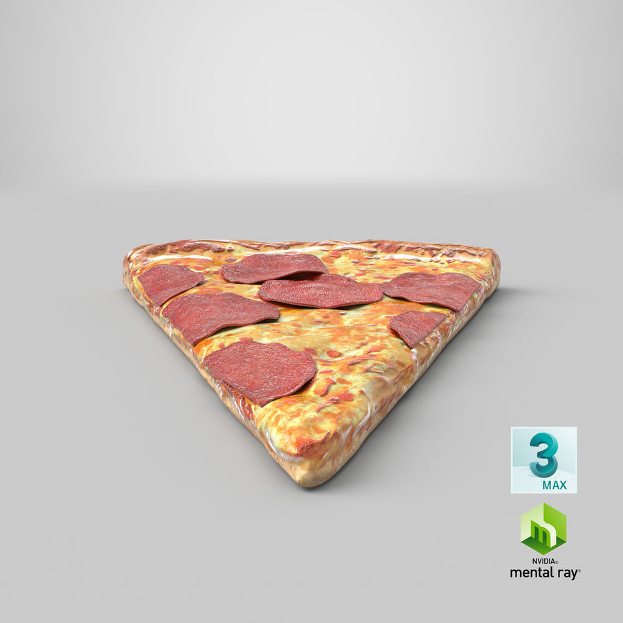 PIzza Slice Pepperoni royalty-free 3d model - Preview no. 27