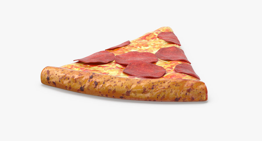 PIzza Slice Pepperoni royalty-free 3d model - Preview no. 7