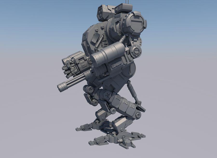 Guerra do robô royalty-free 3d model - Preview no. 10