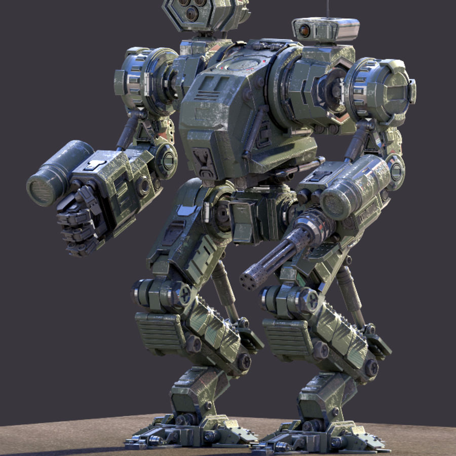 Guerra do robô royalty-free 3d model - Preview no. 2