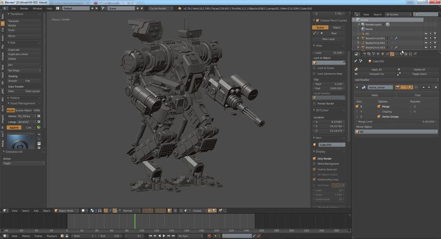 Guerra do robô royalty-free 3d model - Preview no. 16