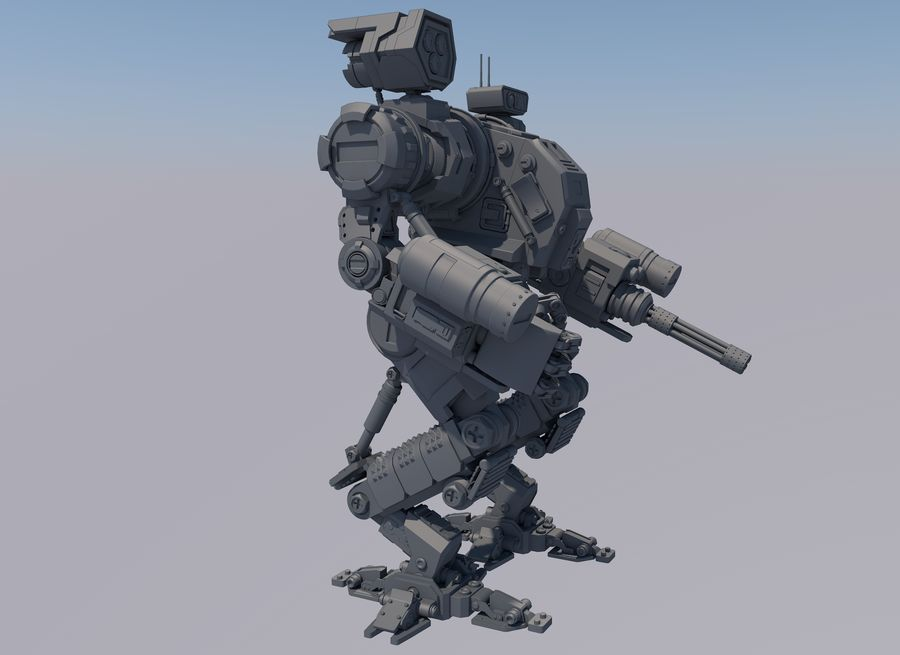 Guerra do robô royalty-free 3d model - Preview no. 9