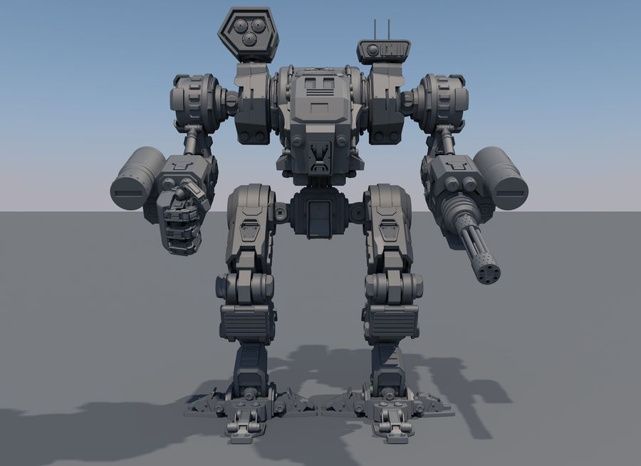 Guerra do robô royalty-free 3d model - Preview no. 4