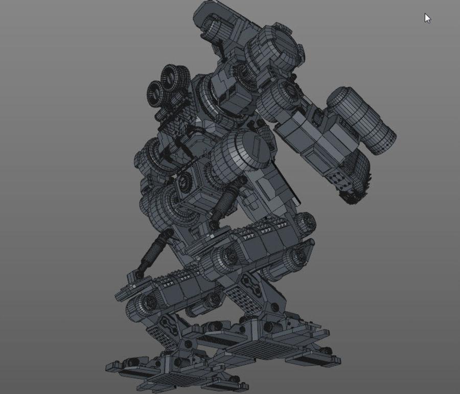 Guerra do robô royalty-free 3d model - Preview no. 14