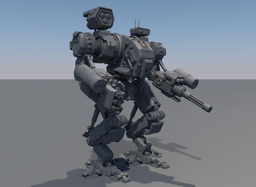 Guerra do robô royalty-free 3d model - Preview no. 7