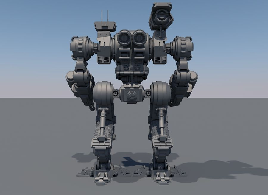 Guerra do robô royalty-free 3d model - Preview no. 8