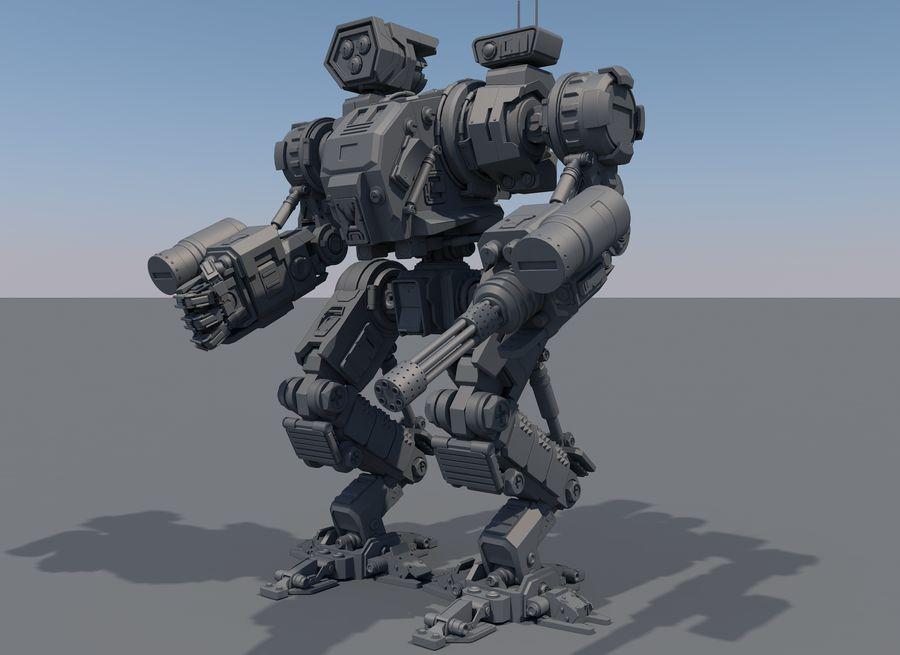 Guerra do robô royalty-free 3d model - Preview no. 3