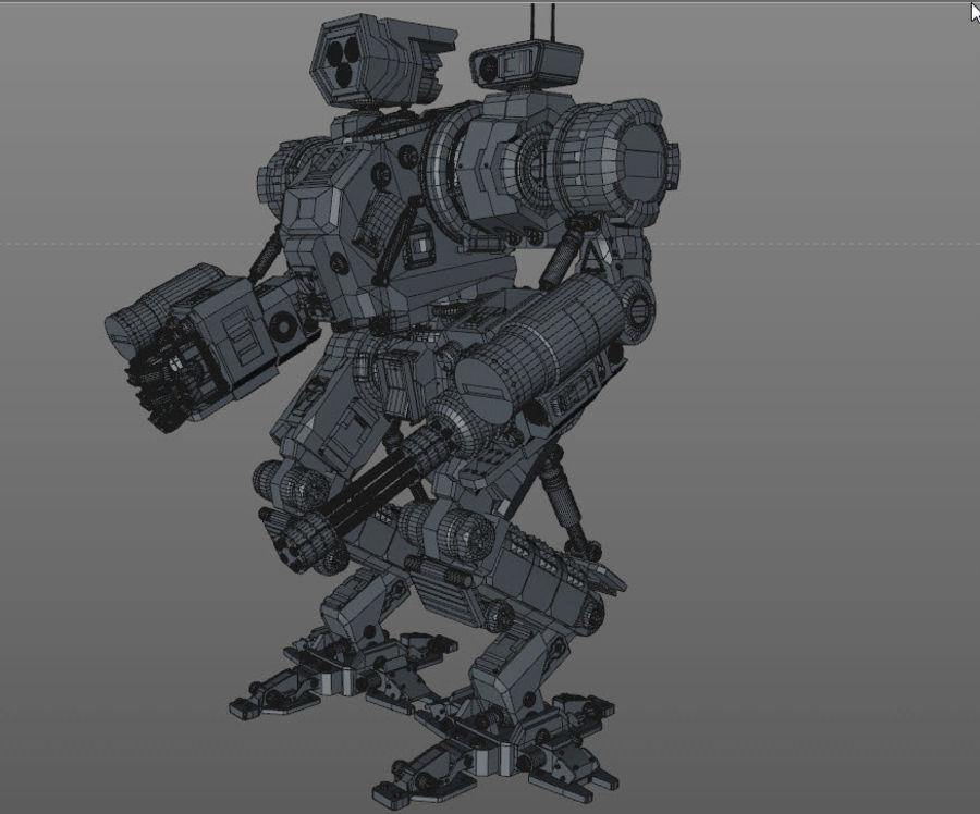 Guerra do robô royalty-free 3d model - Preview no. 11