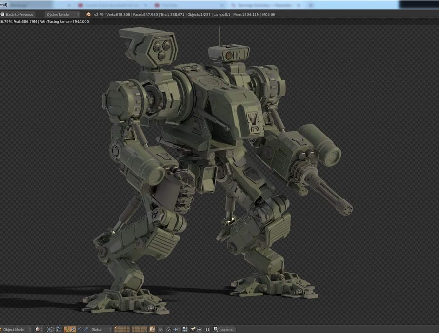 Guerra do robô royalty-free 3d model - Preview no. 1