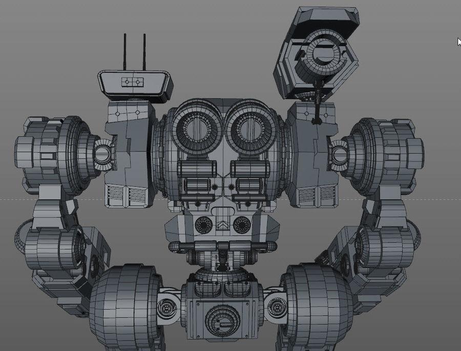 Guerra do robô royalty-free 3d model - Preview no. 15