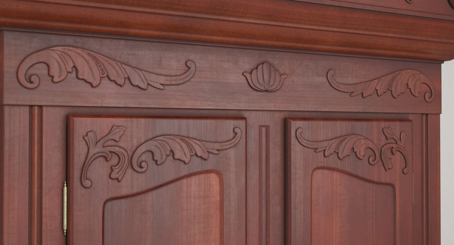 Antique Wardrobe royalty-free 3d model - Preview no. 11
