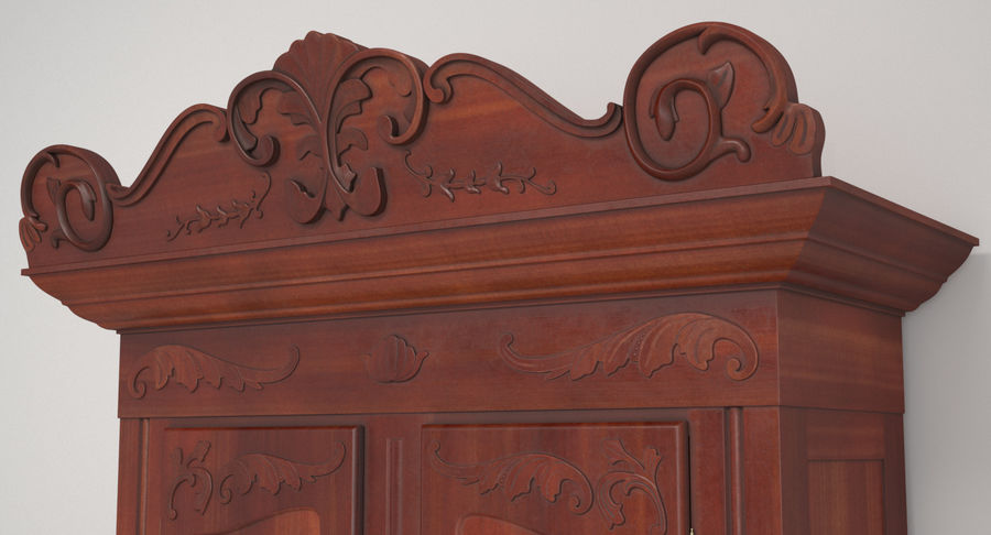 Antique Wardrobe royalty-free 3d model - Preview no. 12
