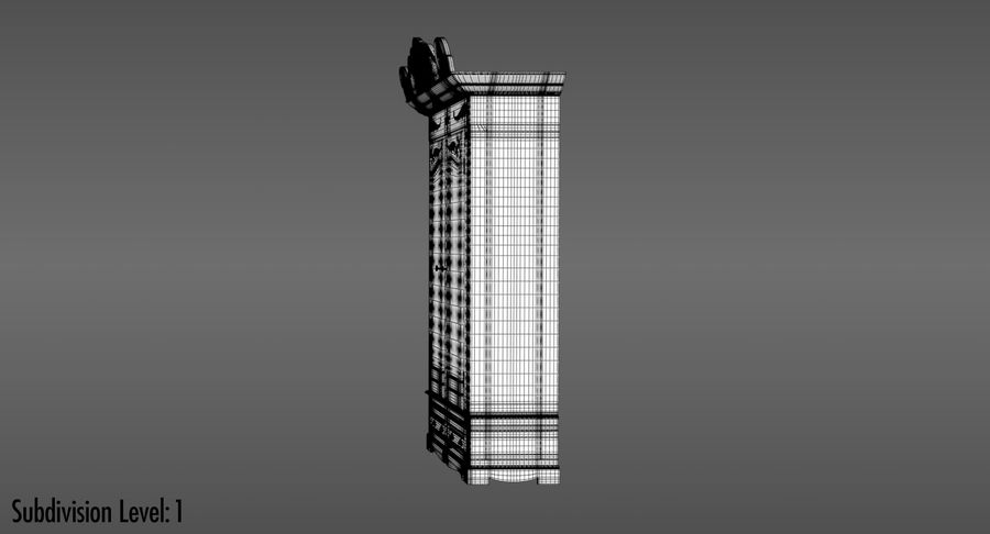 Antique Wardrobe royalty-free 3d model - Preview no. 17