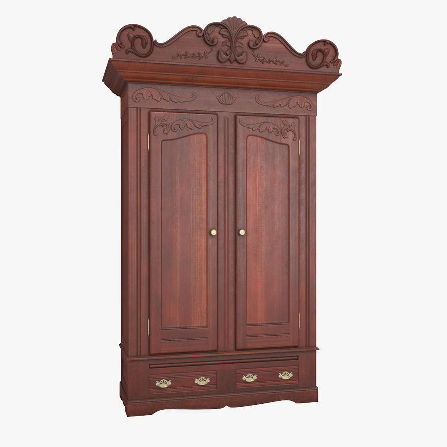 Antique Wardrobe royalty-free 3d model - Preview no. 1