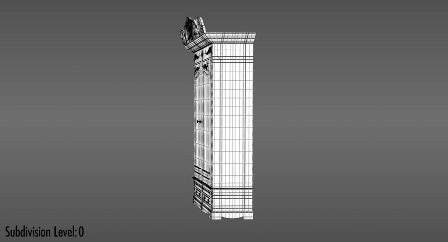 Antique Wardrobe royalty-free 3d model - Preview no. 18