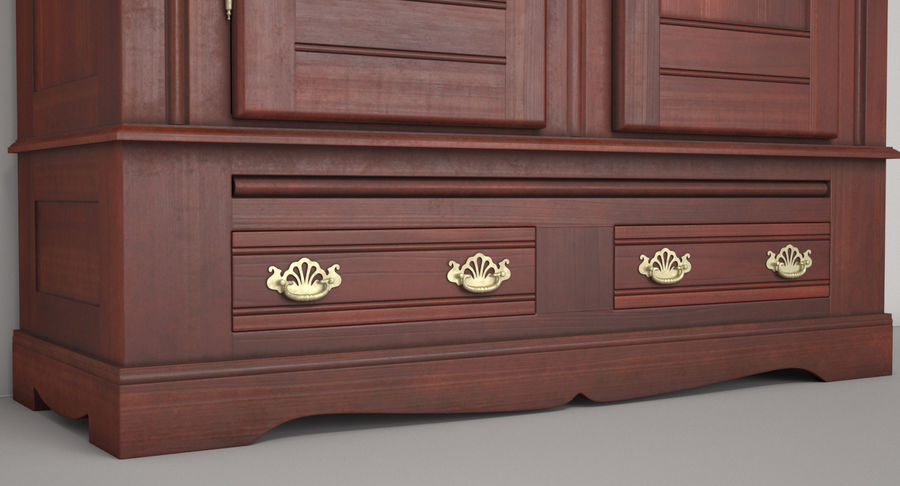 Antique Wardrobe royalty-free 3d model - Preview no. 9