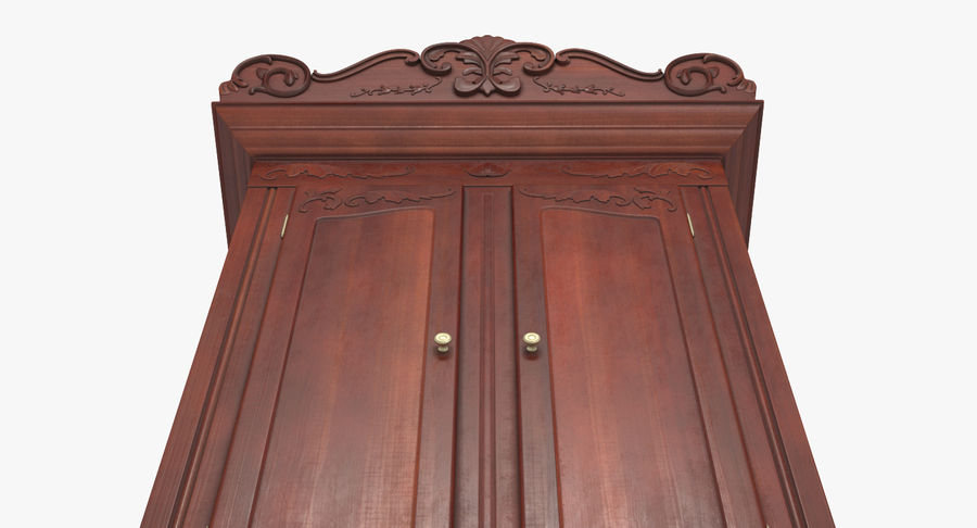 Antique Wardrobe royalty-free 3d model - Preview no. 8