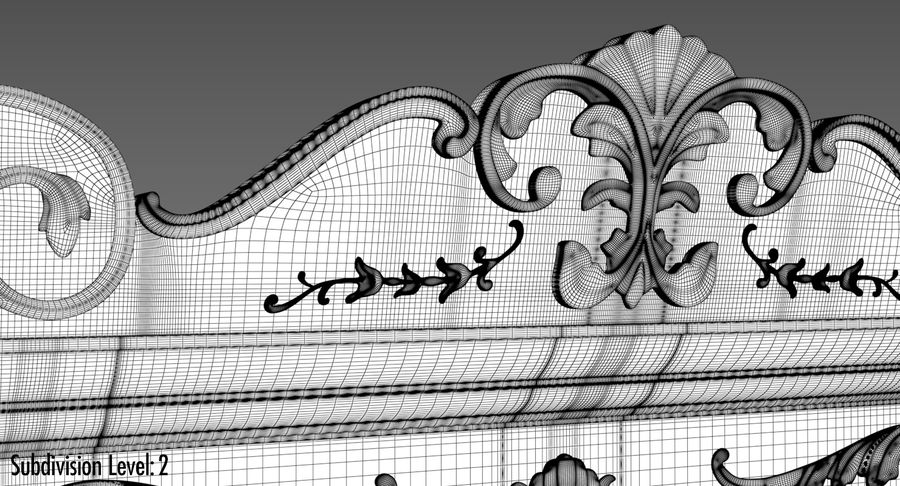 Antique Wardrobe royalty-free 3d model - Preview no. 23