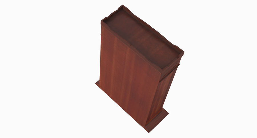 Antique Wardrobe royalty-free 3d model - Preview no. 7