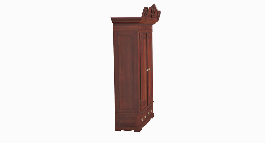 Antique Wardrobe royalty-free 3d model - Preview no. 5