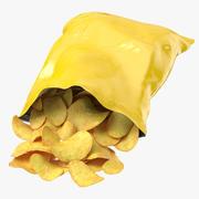 Potato Chips Bag Open 3d model