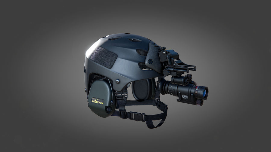 Helmet royalty-free 3d model - Preview no. 5