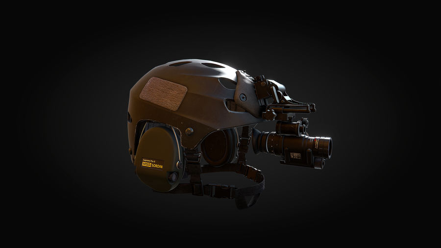 Helmet royalty-free 3d model - Preview no. 7