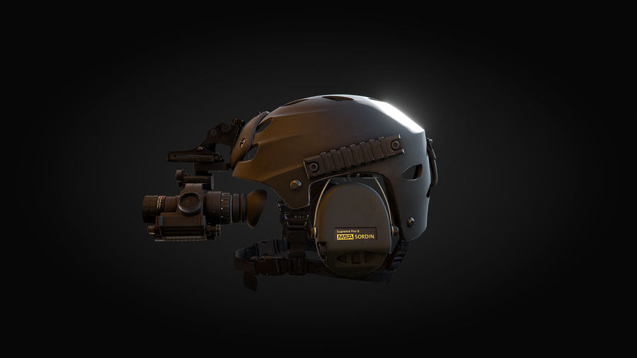 Helmet royalty-free 3d model - Preview no. 6