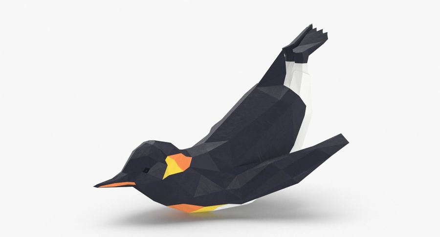Penguin  Jumping royalty-free 3d model - Preview no. 2