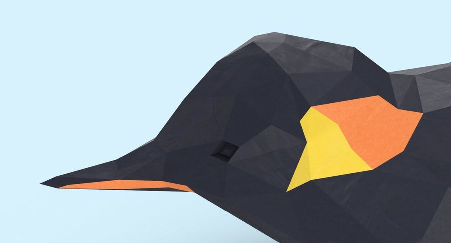 Penguin  Jumping royalty-free 3d model - Preview no. 10