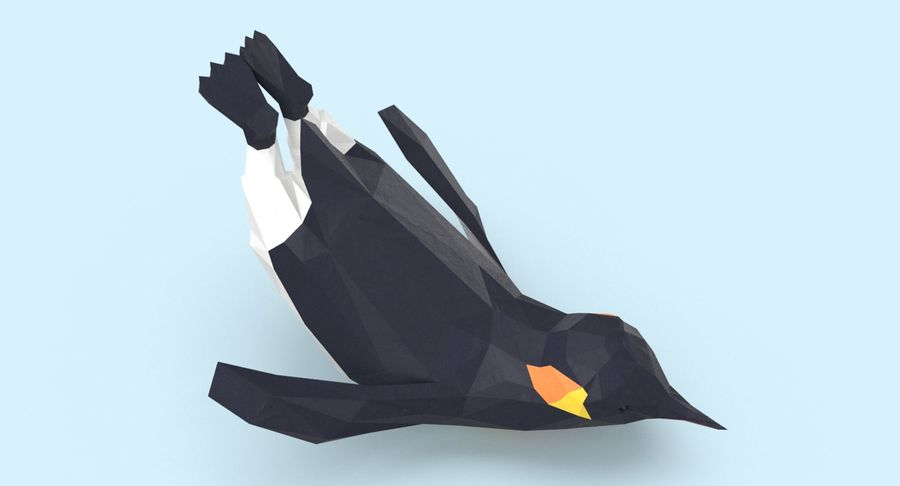 Penguin  Jumping royalty-free 3d model - Preview no. 8