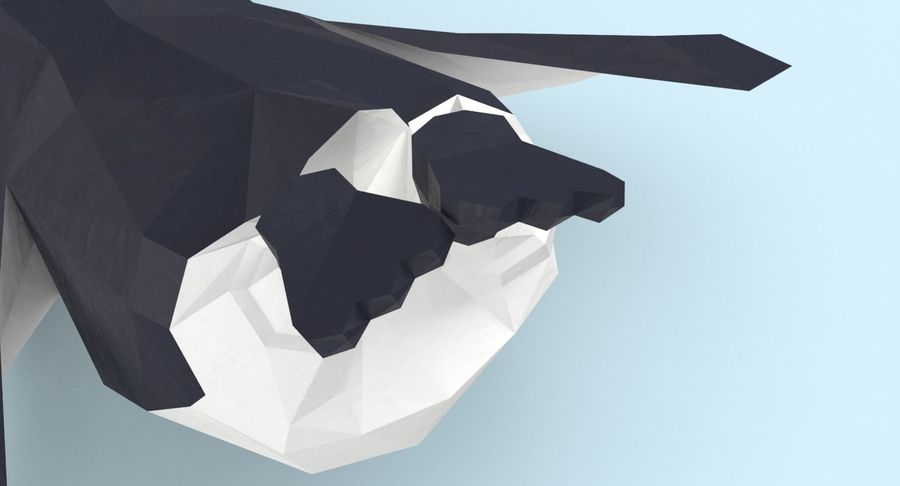 Penguin  Jumping royalty-free 3d model - Preview no. 11