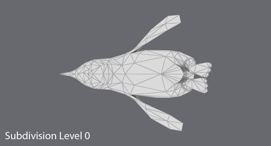 Penguin  Jumping royalty-free 3d model - Preview no. 15