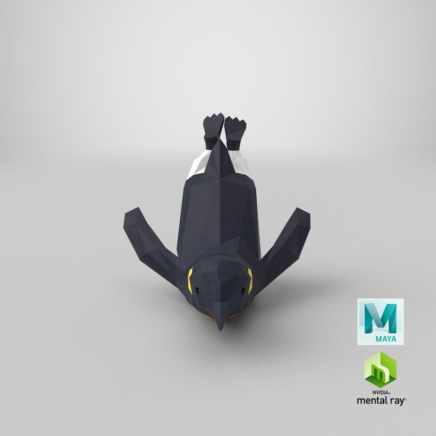 Penguin  Jumping royalty-free 3d model - Preview no. 24
