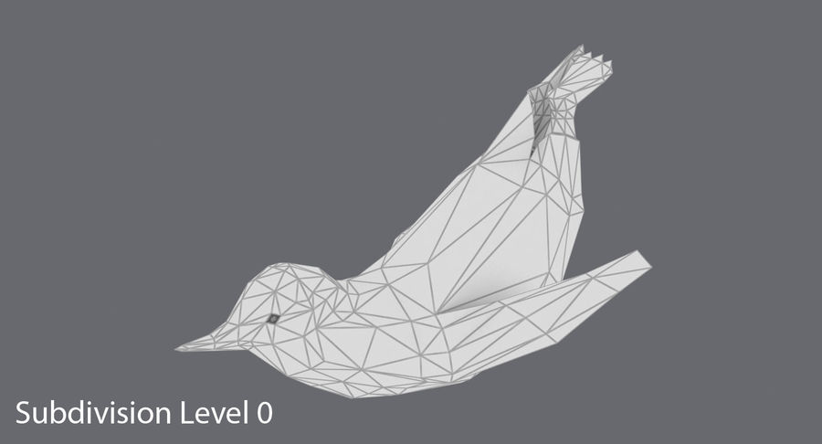 Penguin  Jumping royalty-free 3d model - Preview no. 14