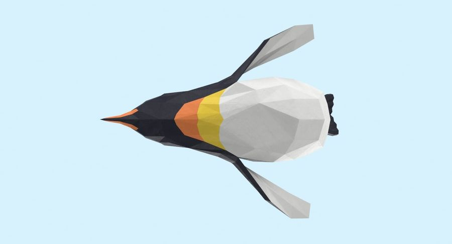 Penguin  Jumping royalty-free 3d model - Preview no. 13