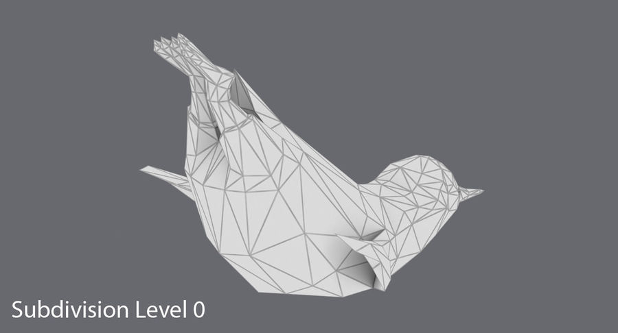 Penguin  Jumping royalty-free 3d model - Preview no. 16