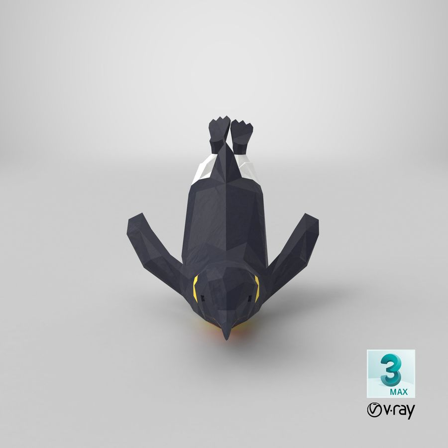 Penguin  Jumping royalty-free 3d model - Preview no. 21