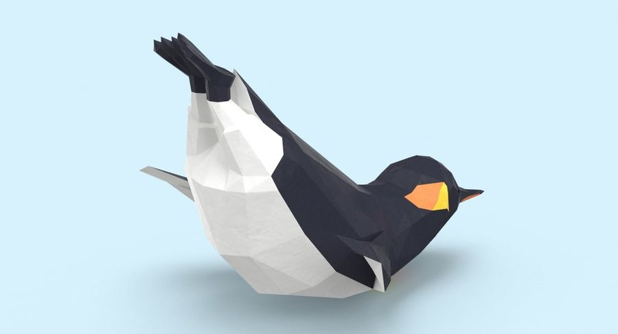 Penguin  Jumping royalty-free 3d model - Preview no. 6